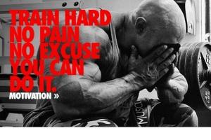 """""""Treine duro, sem dor, sem desculpa, você consegue"""""""